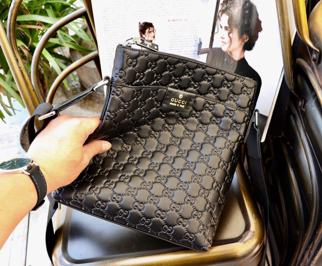 メンズ ブランドバッグ 斜めがけ-偽物 グッチ 黒 GGスプリーム ボディバッグ  ソフト高品質ショルダー ハイエンド N級コピー店舗