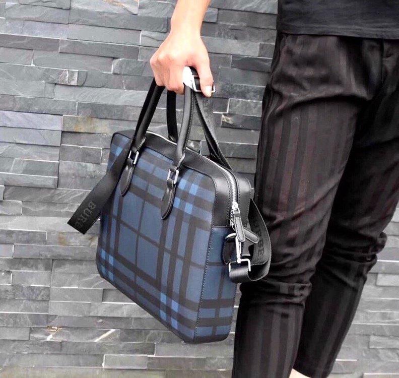 メンズ ブリーフケース ブランド ランキング-コピー プラダ ブルー 高品質 ビジネスバッグ PVC ハイエンド N級偽物