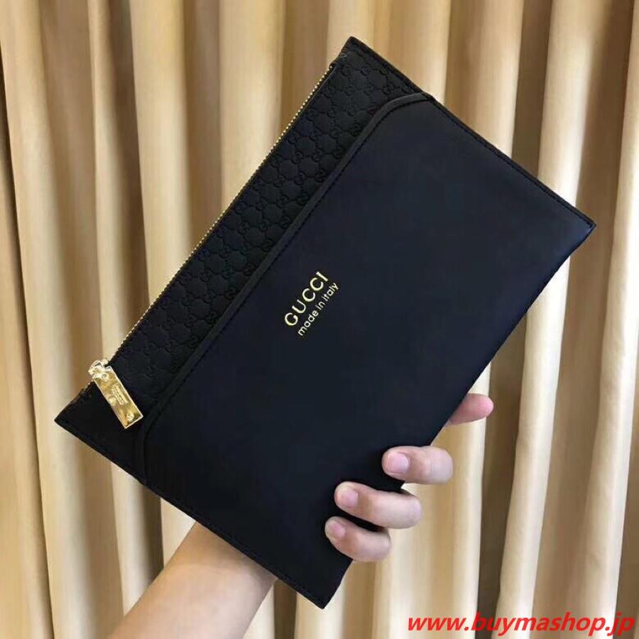 メンズ バッグ おすすめ 30代 ブランド-偽物 黒 クラッチバック a4 柔らかいレザー GGシュプリーム 高品質 スーパーコピーブランド販売