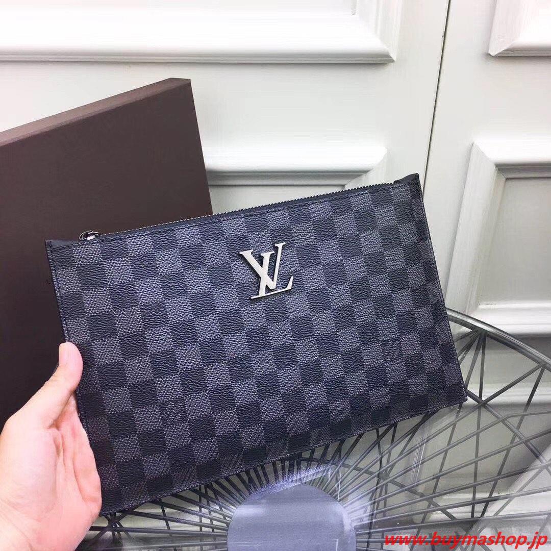 ヴィトン a4バッグ-偽物 グレー クラッチバック 柔らかいレザー グラフィット 大容量 ノートカバー 高品質 人気 スーパーコピーブランド販売