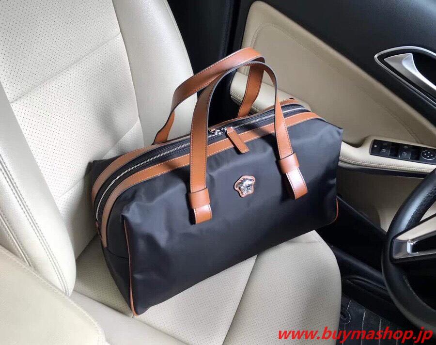 ヴェルサーチ ボストンバッグ コピー-ブラック トラベルバッグ 旅行 N級 口コミ 高品質 ナイロン 人気 30代 偽物ブランド販売