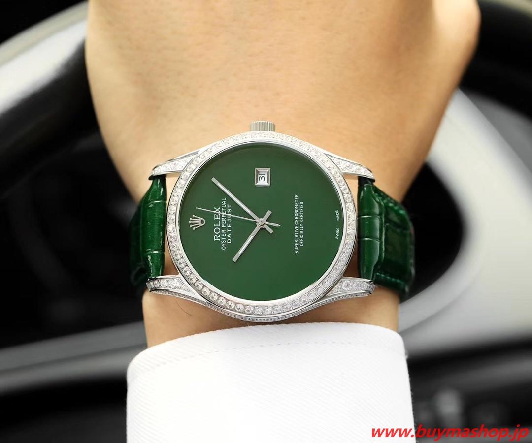 ロレックス ダイヤ 質-偽物 緑 メンズ腕時計 全面ダイヤ TOXIC 41mm シチズン82 時計 ブランド 安い
