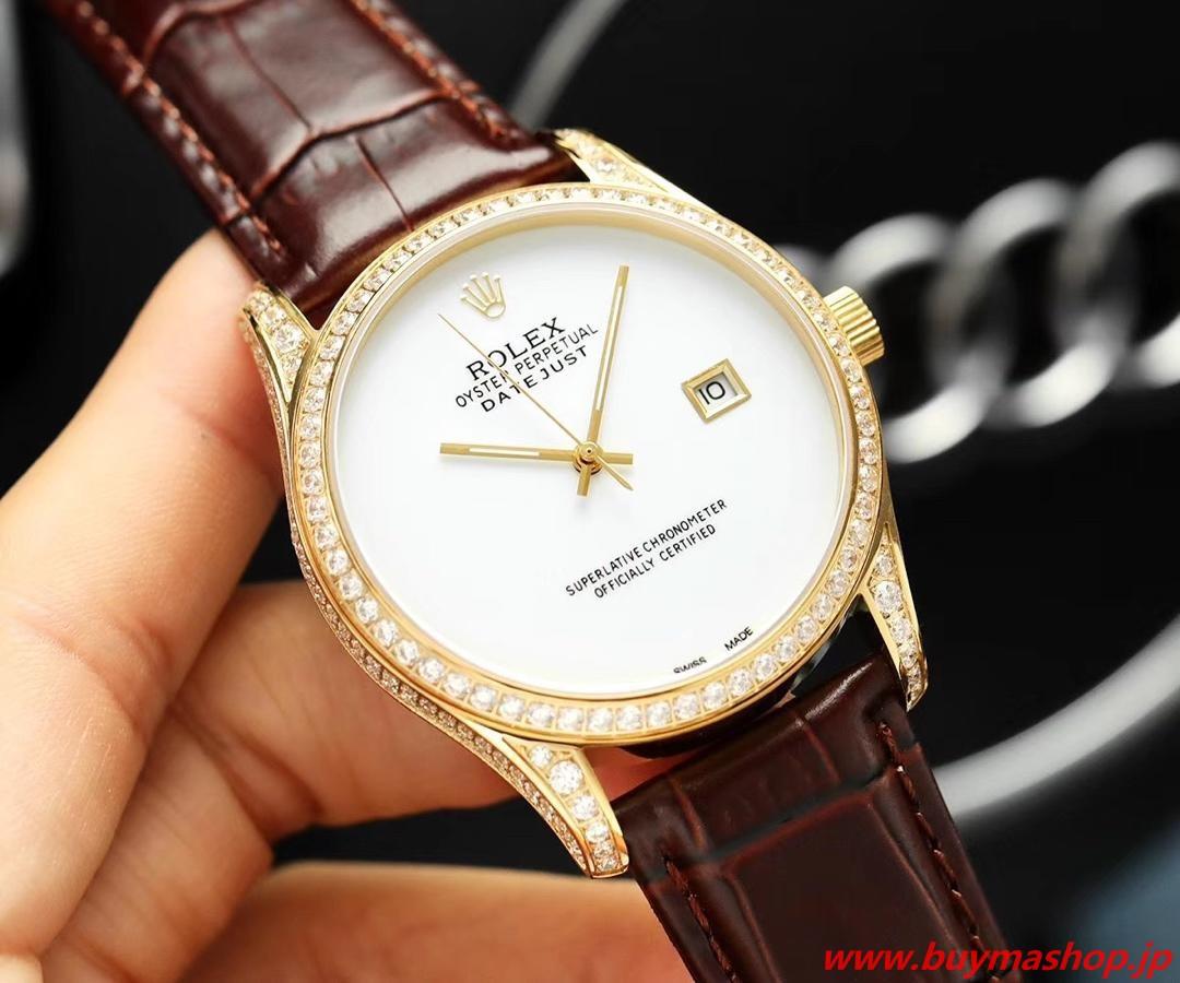 ロレックス デイトジャスト ダイヤ 買取-偽物 ホワイト メンズ腕時計 オールダイヤ TOXIC 41mm シチズン82 時計 ブランド 安い