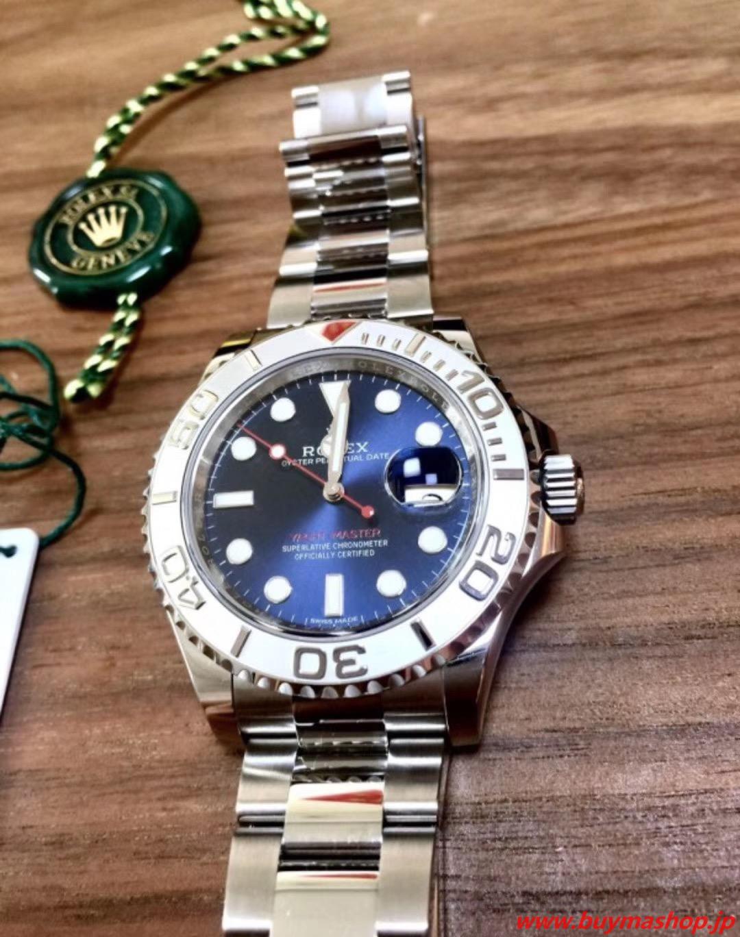 ロレックス ヨットマスター 偽物-ブルー メンズ腕時計 ダークロジウム デイトジャスト 芸能人 ボーイズ 魅力 40mm 時計 ブランド 安い