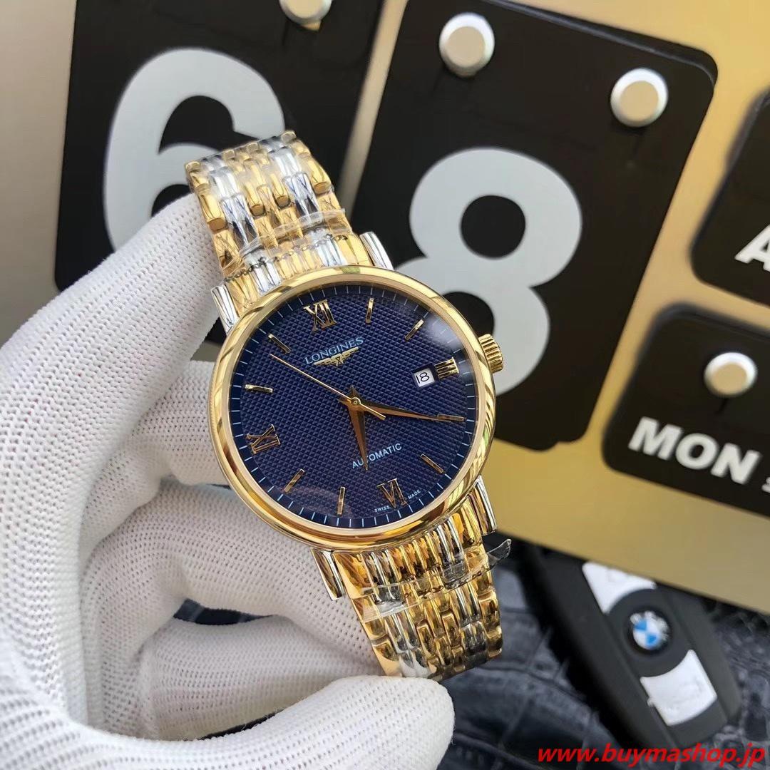 ロンジン オートマチック ネイビー-コピー ゴールド 自動巻き メンズ腕時計 機械式 41mm 時計 ブランド 安い 偽物 オンライン ショップ