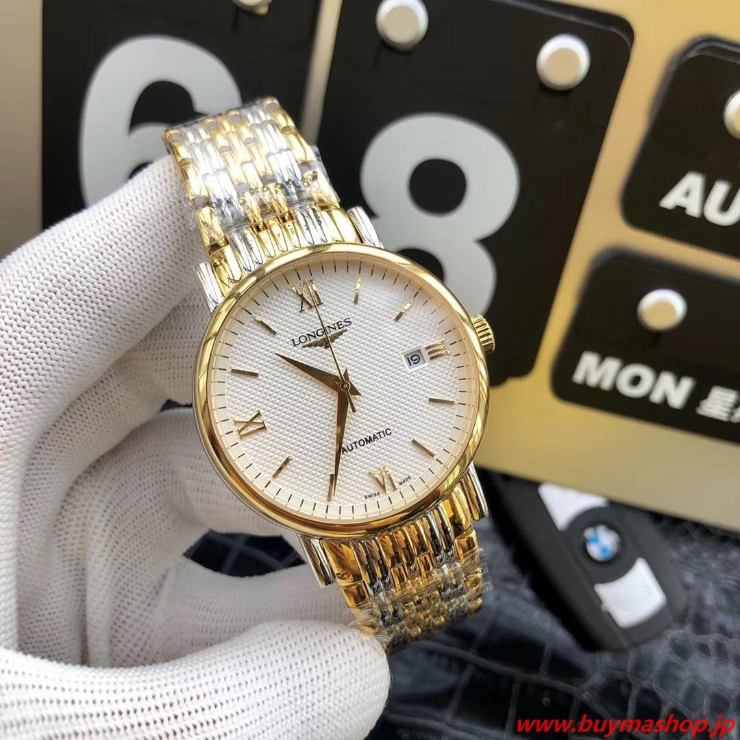 ロンジン オートマチック 偽物-白ゴールド メンズ腕時計 自動巻き 機械式 41mm 時計 ブランド 安い 偽物 オンライン ショップ