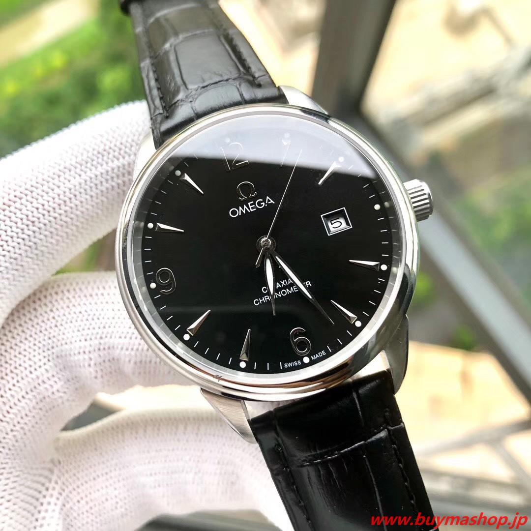 オメガ コーアクシャル クロノメーター-偽物黒シルバー メンズ腕時計 40mm 316L シチズン8215 時計 ブランド 安い