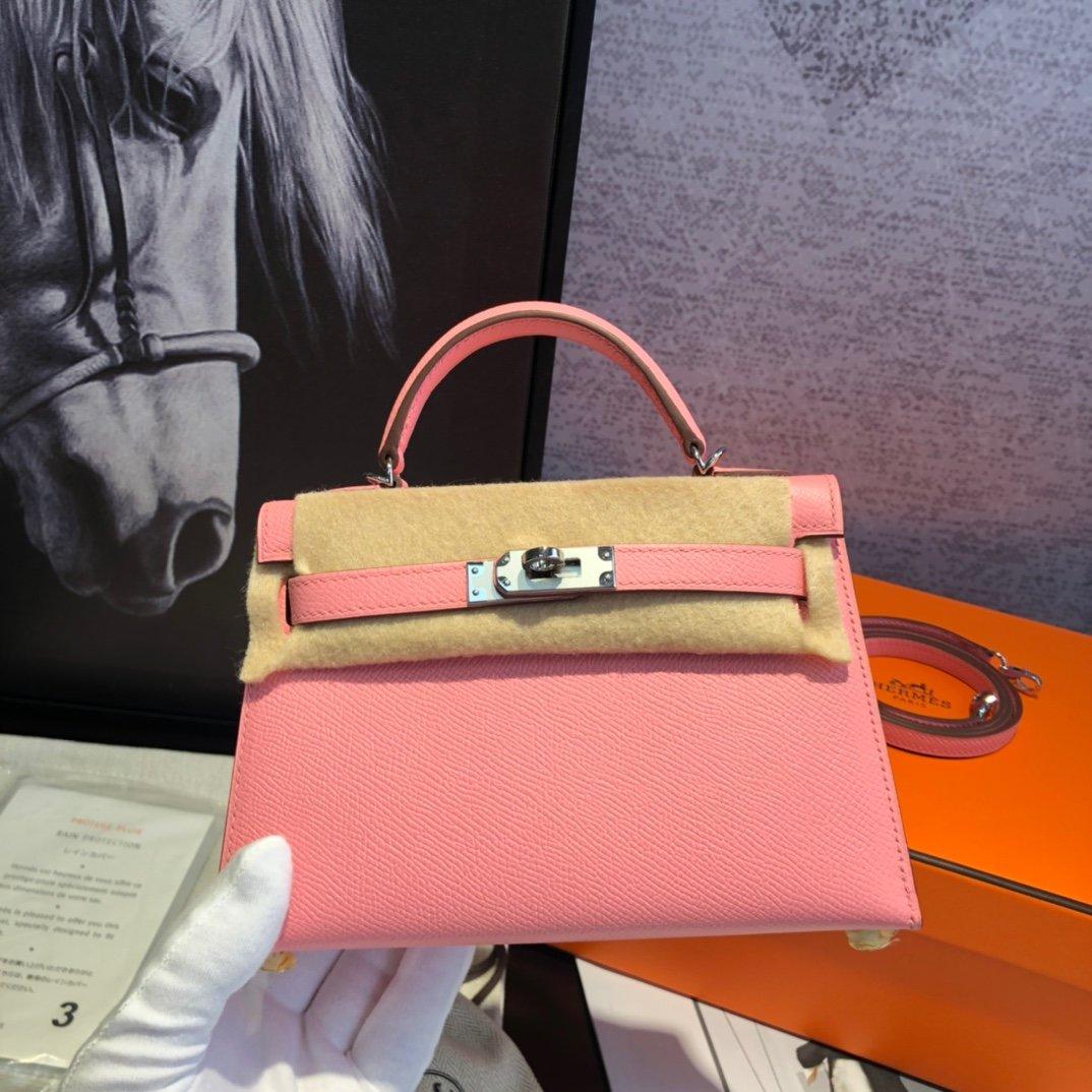 エルメス ケリー ピンク-コピー ミニ レザーハンドバッグ 19 二代目 スタッズ 高品質 N級 偽物ブランド販売