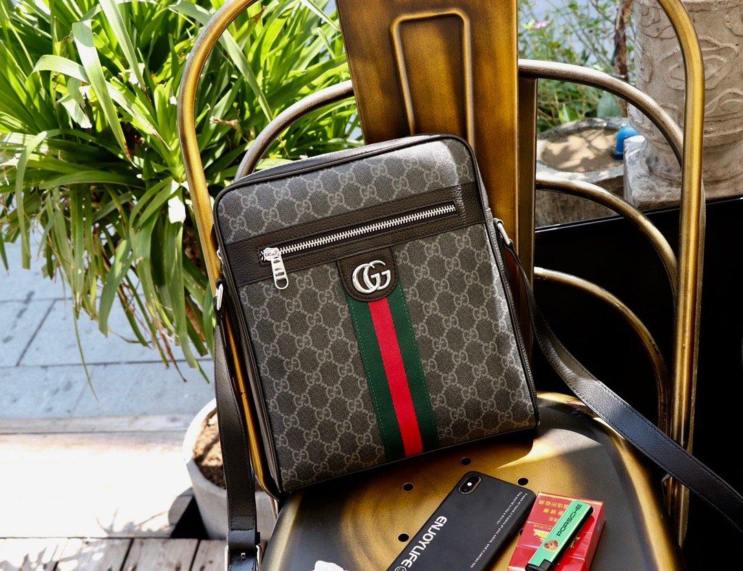 メンズ 斜めがけ バッグ ブランド-偽物 グッチ 黒 オフィディア ボディバッグ たたみ方 GGスプリーム ハイエンド N級コピー