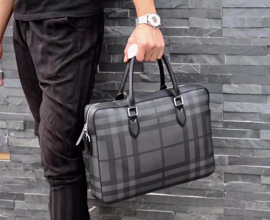 メンズ バッグ ブリーフケース ブランド-コピー プラダ グレー 高品質 ビジネスバッグ PVC ハイエンド N級偽物
