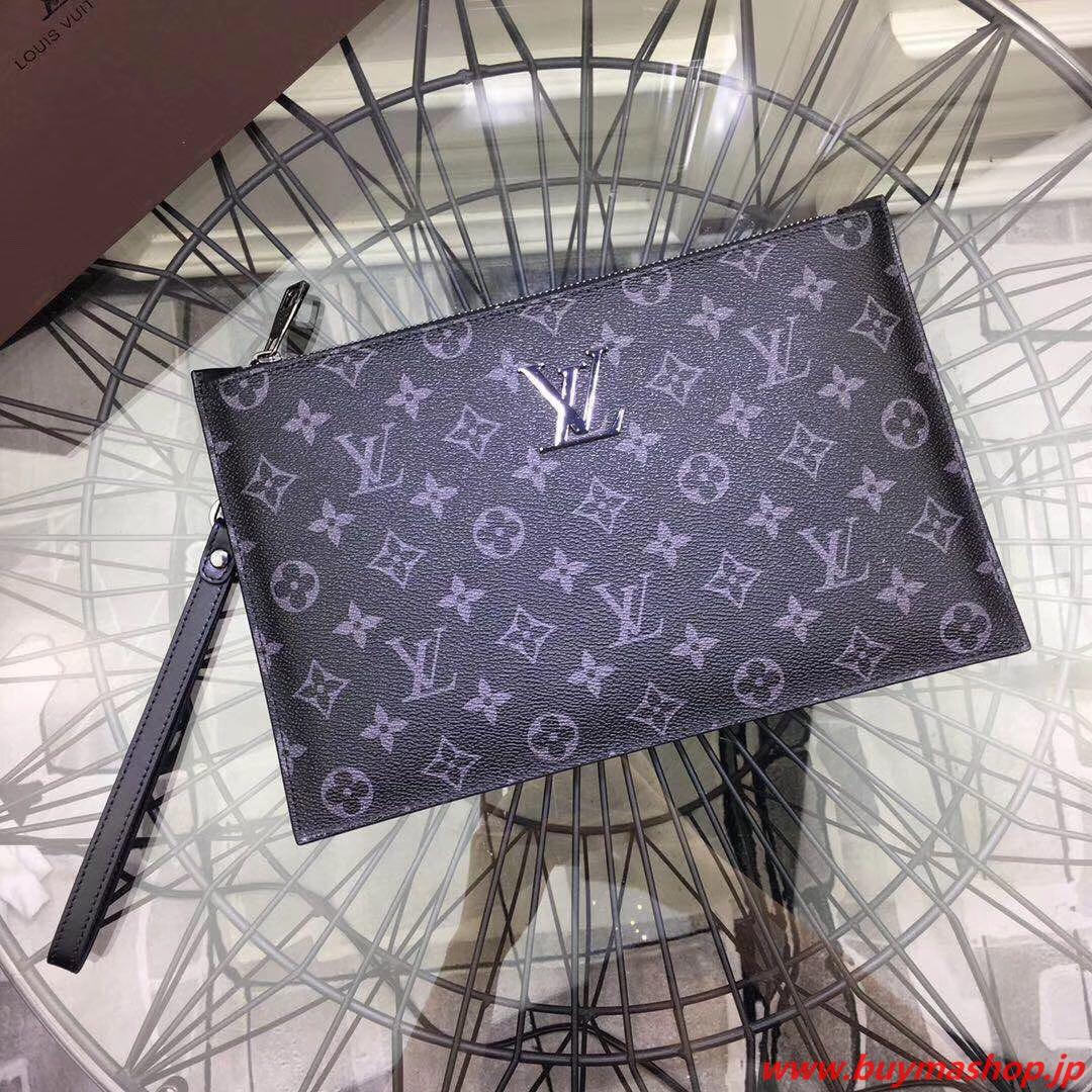 ルイヴィトン メンズ バッグ おすすめ-偽物 グレー クラッチバック a4 柔らかいレザー モノグラム 高品質 人気 スーパーコピーブランド販売
