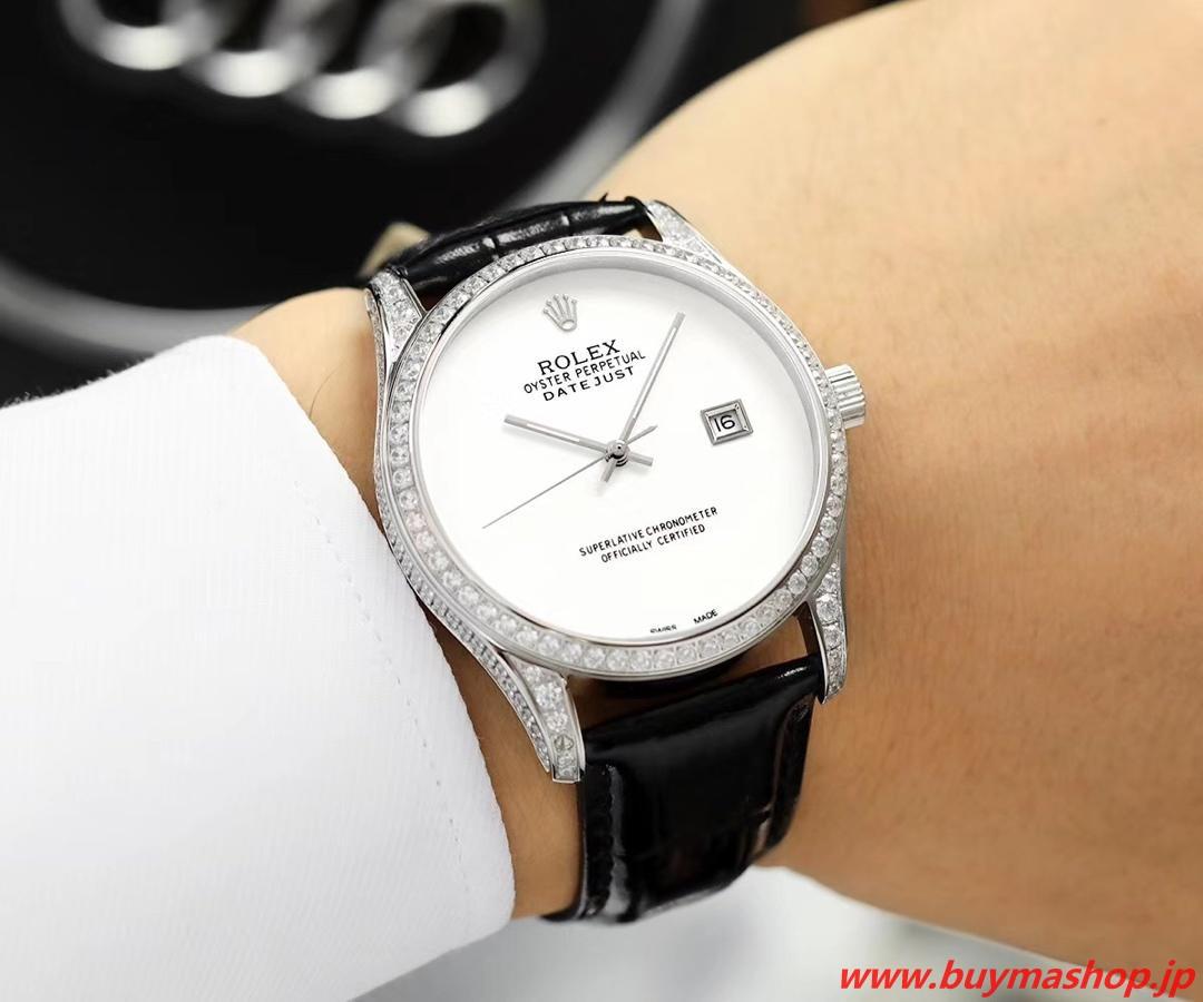 ロレックス オールダイヤ-偽物 白 メンズ腕時計 全面ダイヤ TOXIC 41mm シチズン82 時計 ブランド 安い