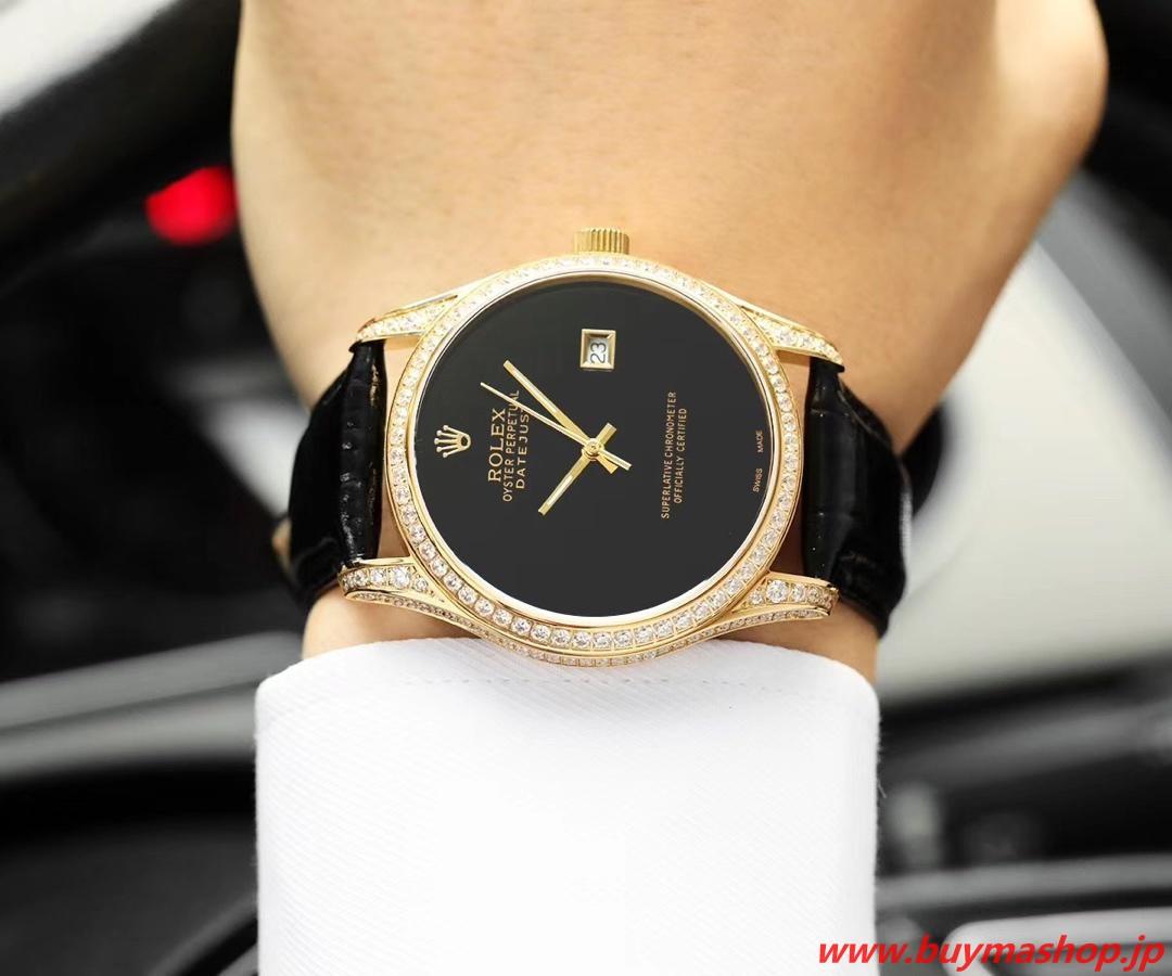 ロレックス 全面ダイヤ-偽物 ブラック メンズ腕時計 オールダイヤ TOXIC 41mm シチズン82 時計 ブランド 安い
