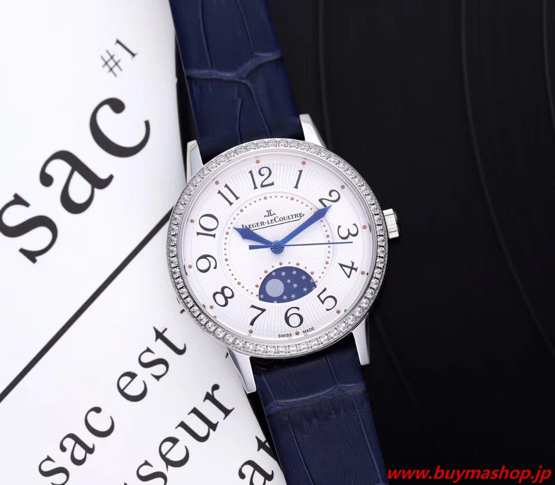 ジャガールクルト レディース アンティーク-偽物 シルバー ウィメンズ腕時計 ダイヤ 三日月形 デート ロマンチックな 美しい ムーンフェイズ