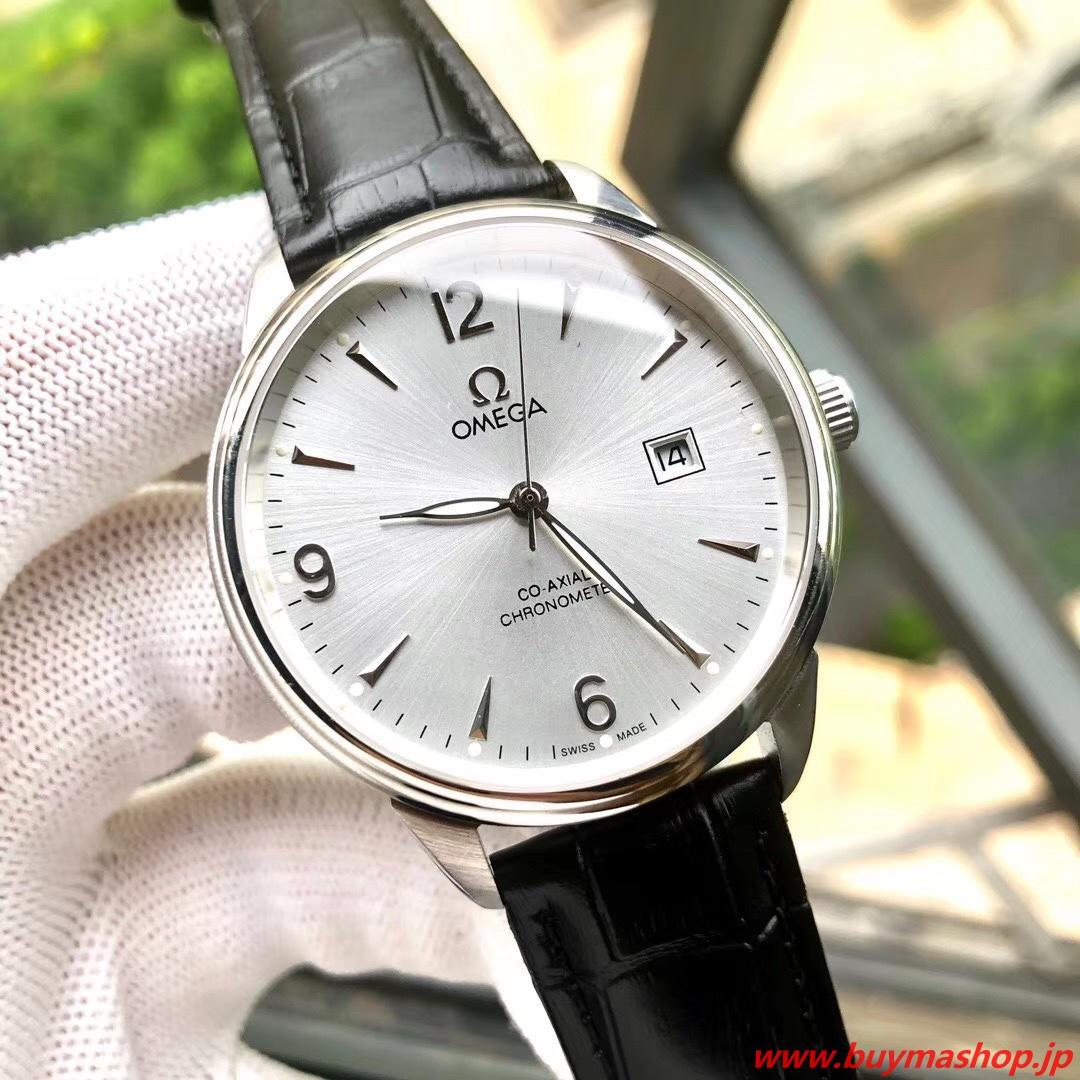 オメガ コーアクシャル 偽物-白シルバー クロノメーター メンズ腕時計 40mm 316L シチズン8215 時計 ブランド 安い