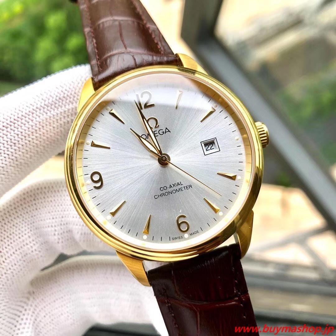 オメガ コーアクシャル スーパーコピー代引き-白ゴールド クロノメーター メンズ腕時計 40mm 316L シチズン8215 時計 ブランド 安い