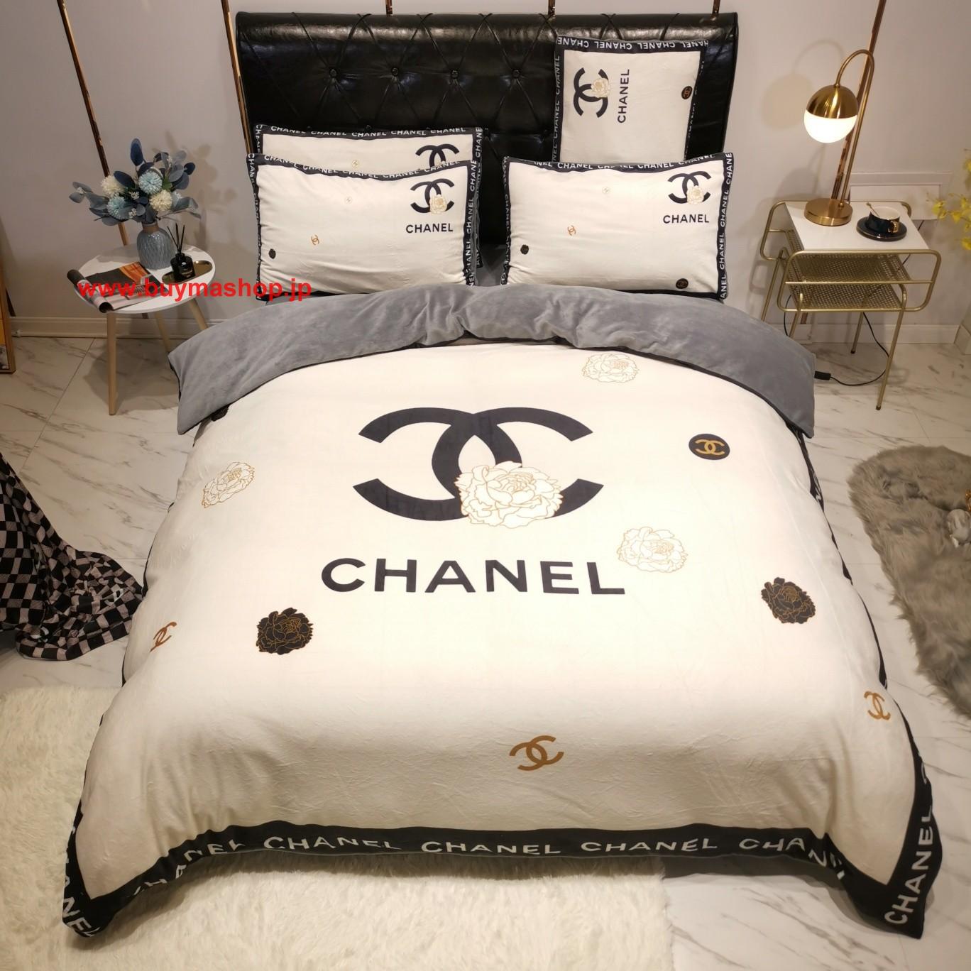 秋冬绒品Chanel シャネル寝具 ブランド 寝具 和室 布団 すのこ 通販 生活 寝具 寝具 とは シングル セミダブル シーツ 高級でおしゃれなブランド寝具布団カバー、ベッドシーツ、枕カバー4点セット