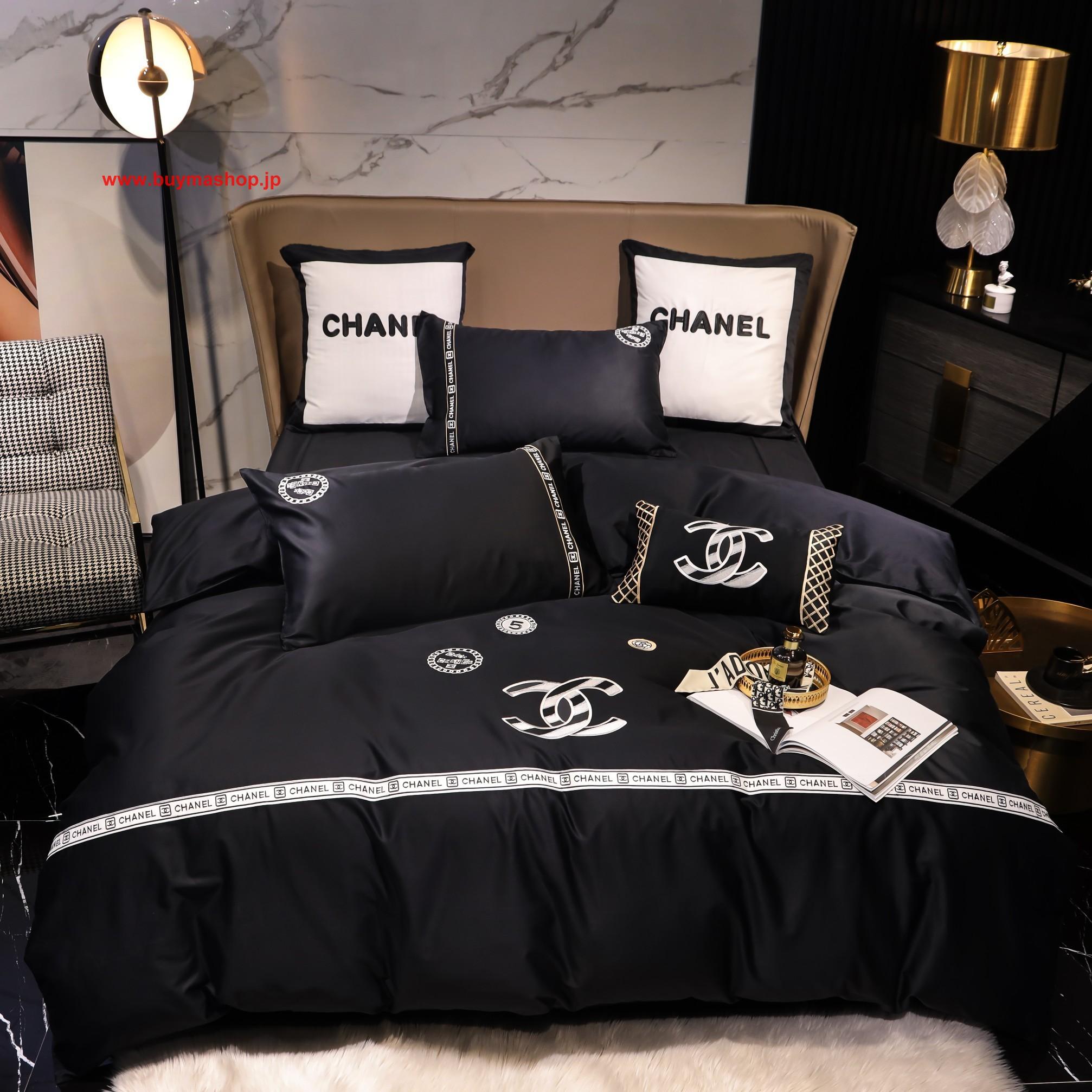 秋冬绒品Chanel シャネル寝具 ブランド 寝具 しまむら マットレス 値段 和室 布団 マットレス シーツ しまむら 高級でおしゃれなブランド寝具布団カバー、ベッドシーツ、枕カバー4点セット
